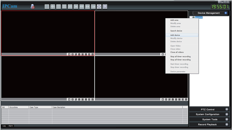 تصویر برنامه نمایش تصویر دوربین وای فای sricam