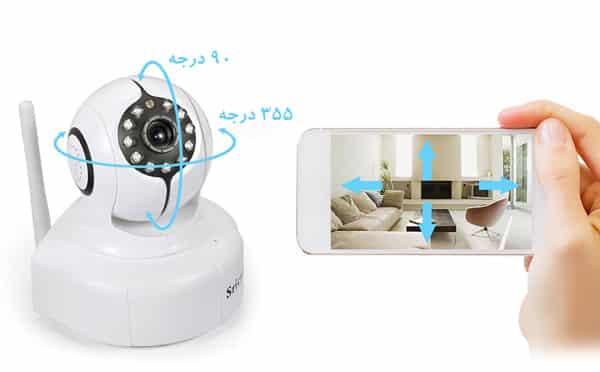 دوربین مدار بسته وای فای سری کم با قابلیت چرخش 360 درجه
