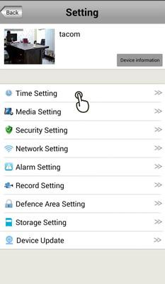 تنظیمات زمان دوربین وایرلس