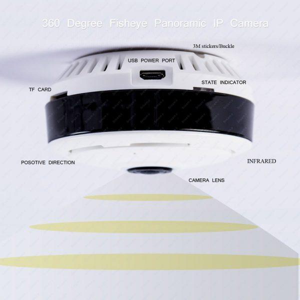 دوربین وای فای پاناروما fisheye
